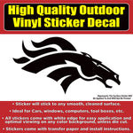 Denver Broncos Black Design, Car Window Vinyl Decal Sticker