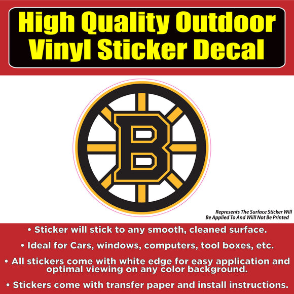 Boston Bruins - Hockey Vinyl Car Window Laptop Bumper sticker decal - Colorado Sticker