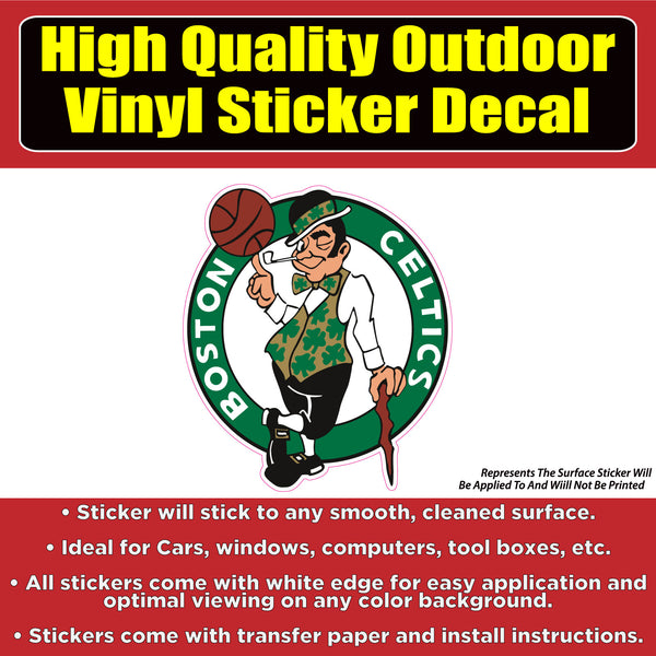 Boston Celtics , Celtic, Celtic's Vinyl Car Window Laptop Bumper Sticker Decal