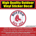 Boston Red Sox Baseball Vinyl Car Window Laptop Bumper Sticker Decal