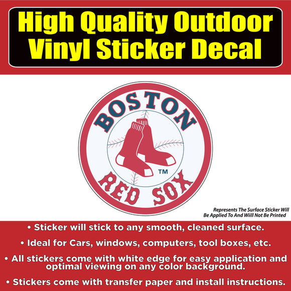 Boston Red Sox Baseball Vinyl Car Window Laptop Bumper Sticker Decal - Colorado Sticker
