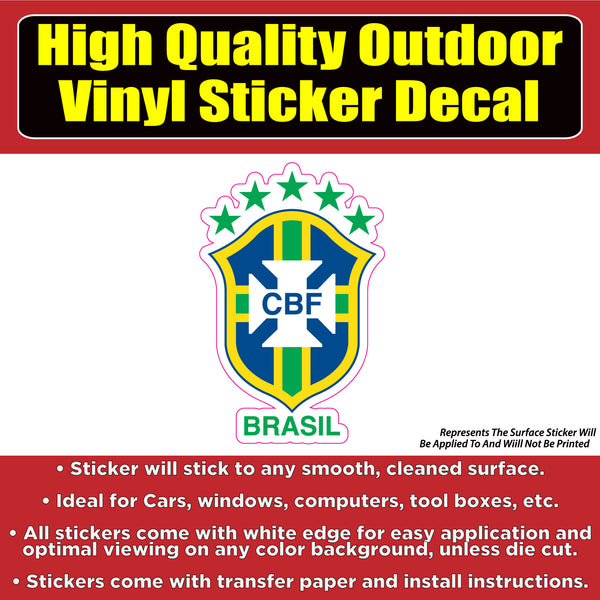 Brazil Soccer Football Vinyl Car Window Laptop Bumper Sticker decal