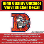 Denver Broncos D Flames Vinyl Car Window Laptop Bumper Sticker Decal