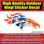 Denver Broncos Old Helmet Vinyl Car Window Laptop Bumper Sticker Decal