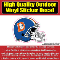 Denver Broncos Helmet Vinyl Car Window Laptop Bumper Sticker Decal