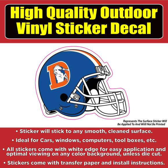 Denver Broncos Helmet Vinyl Car Window Laptop Bumper Sticker Decal - Colorado Sticker