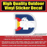 Denver Broncos D Colorado Flag Vinyl Car Window Laptop Bumper Sticker Decal