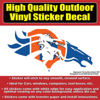 Denver Broncos Old School D Horse Vinyl Car Window Laptop Bumper Sticker Decal