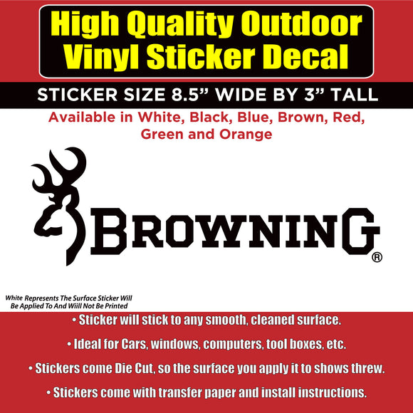 Browning Vinyl Car Window Laptop Bumper Sticker Decal - Colorado Sticker