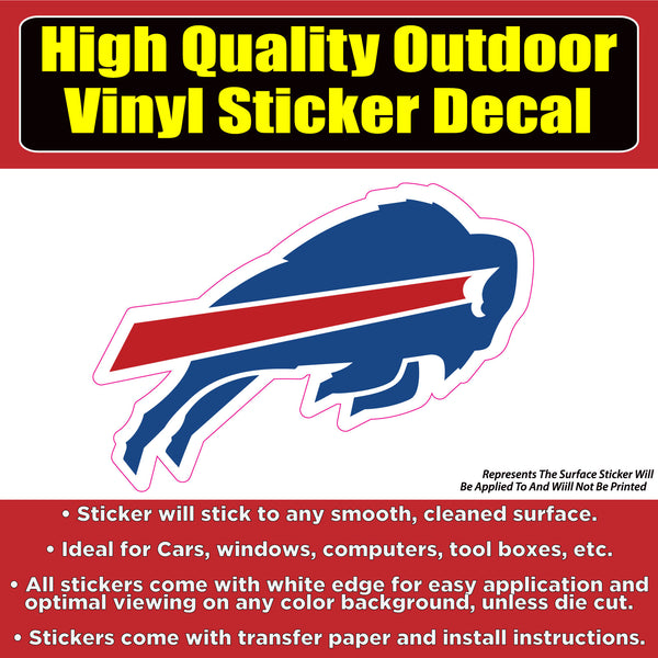 Buffalo Bills Vinyl Car Window Laptop Bumper Sticker Decal