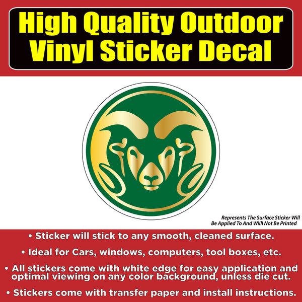 Colorado State University CSU Vinyl Car Window Laptop Bumper Sticker Decal