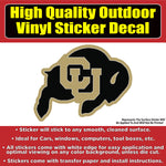 CU University of Colorado Buffaloes Buff Black Gold Vinyl Car Window Laptop Bumper Sticker Decal