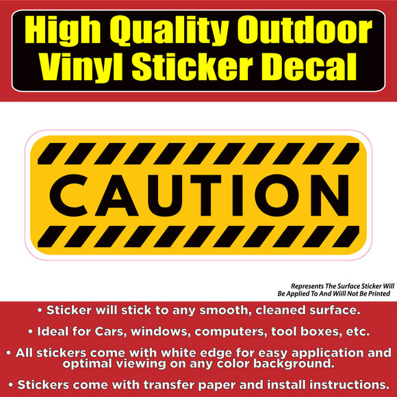 Caution Warning Sign -Vinyl Car Window Door Bumper Sticker Decal - Colorado Sticker
