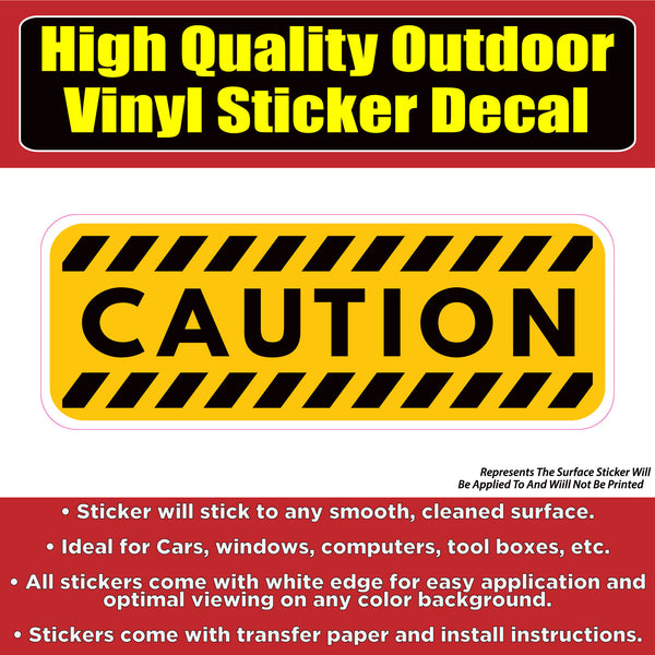 Caution Warning Sign Vinyl Car Window Door Bumper Sticker Decal