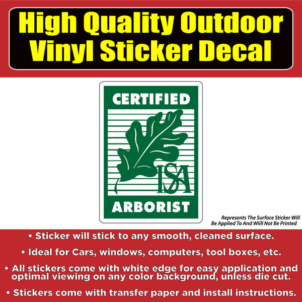 Certified Arborist Business Sign Banner Vinyl Business Sticker Decal