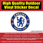Chelsea Soccer Football Vinyl Car Window Laptop Bumper Sticker Decal