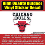 Chicago Bulls Basketball Vinyl Car Window Laptop Bumper Sticker Decal