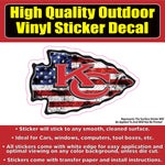 Kansas City Chiefs, KC Chiefs Many Designs Football Vinyl Car Window Bumper Sticker Decal