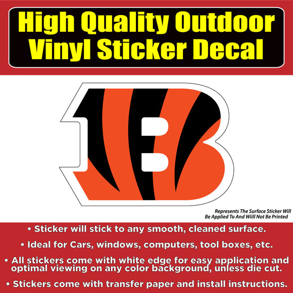 Cincinnati Bengals Vinyl Car Window Laptop Bumper Sticker Decal - Colorado Sticker