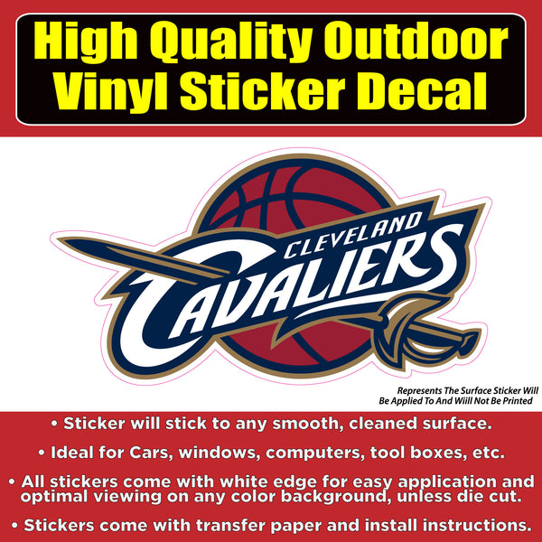 Cleveland Cavaliers, Cavs Vinyl Bumper Car Window Sticker decal