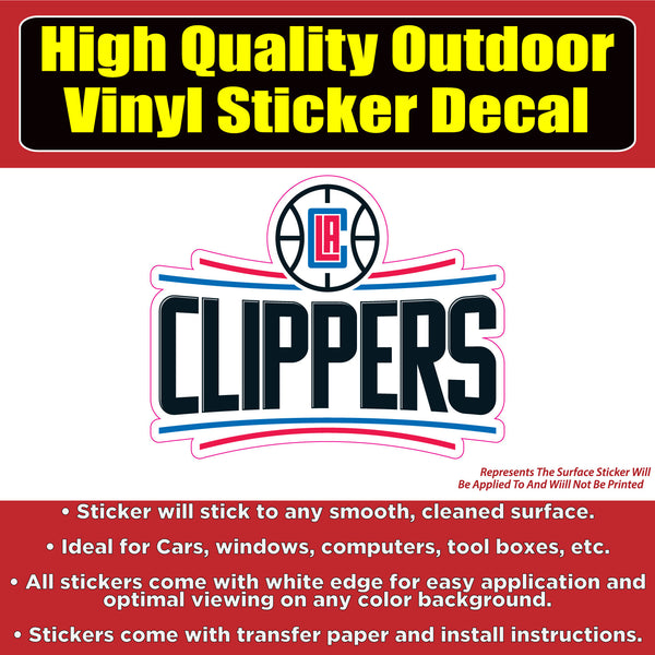 Los Angeles Clippers Logo Basketball Vinyl Car Window Laptop Bumper Sticker Decal