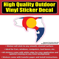 Colorado Flag Fish Trout Vinyl Car Window Laptop Bumper Sticker decal
