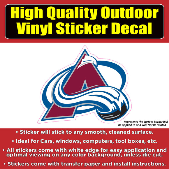 Colorado Avalanche-NHL Hockey Vinyl Car Window Bumper Laptop sticker decal - Colorado Sticker
