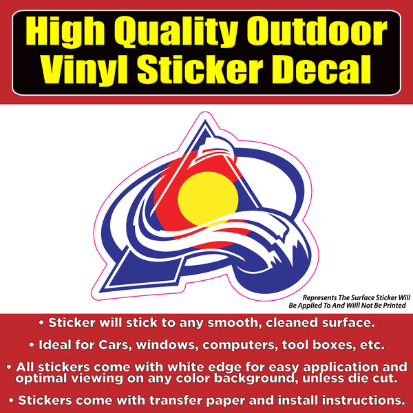 Colorado Avalanche CO Flag -NHL Hockey Vinyl Car Window Bumper Laptop sticker decal