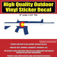 AR 15 Colorado and USA design Vinyl Car Window Laptop Bumper Sticker Decal - Colorado Sticker