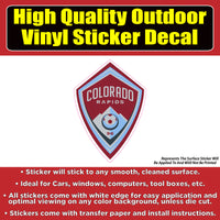 Colorado Rapids Soccer -Vinyl Car Window Laptop Bumper Sticker Decal