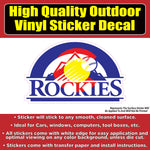 Colorado Rockies CO Flag Baseball Vinyl Car Window Laptop Bumper Sticker Decal
