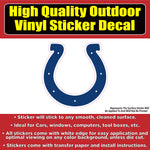 Indianapolis Colts Football Vinyl Car Bumper Window Sticker Decal