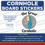 The Great Cornholio Beavis Cornhole Board Set of 2 Full Coverage Vinyl Decal Sticker Wrap - Colorado Sticker