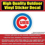Chicago Cubs, Cubbie Logo -  2 Versions Available Baseball Vinyl Car Window Laptop Bumper Sticker Decal
