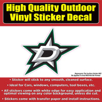 Dallas Stars Hockey Vinyl Car Window Laptop Bumper Sticker Decal
