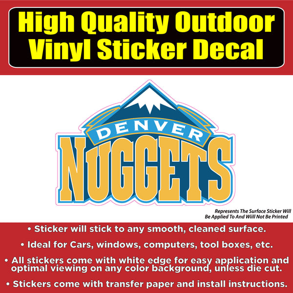 Denver Nuggets Vinyl Car Window Laptop Bumper Sticker Decal
