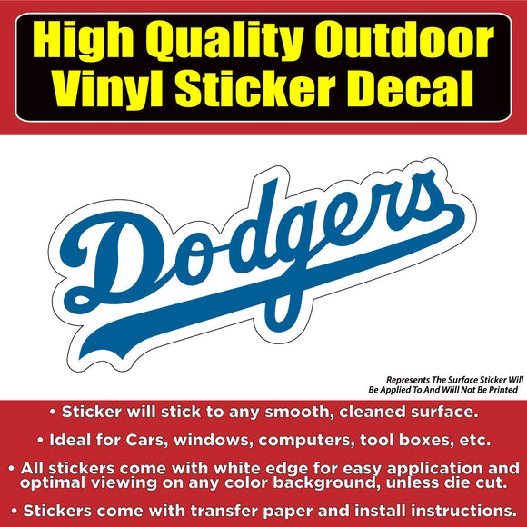 Los Angeles Dodgers Vinyl Car Window Laptop Bumper Sticker Decal - Colorado Sticker