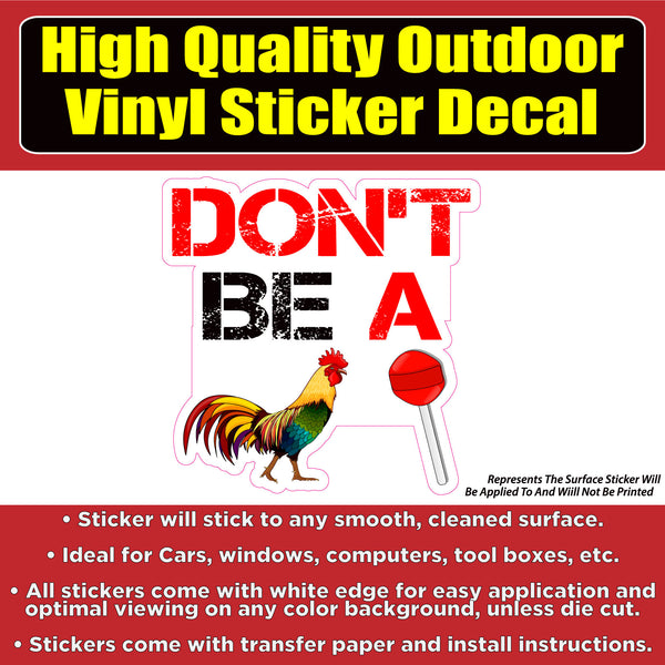 Don't Be a Cock Sucker Car Window Laptop Bumper Sticker Decal