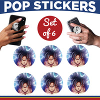 Dragon Ball Z Pop Stickers- Set of 6