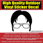 Dwight The Office TV Show Vinyl Car Window Laptop Bumper Sticker Decal