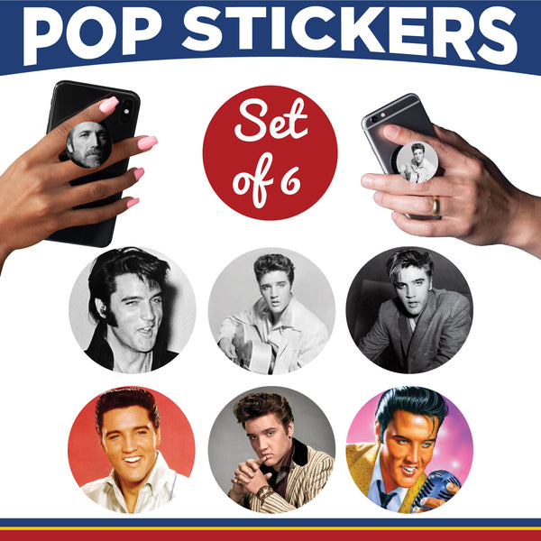 Male Musicians Pop Sticker- Set of 6