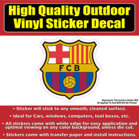 FC Barcelona Soccer Football Vinyl Car Window Laptop Bumper Sticker Decal