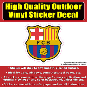 FC Barcelona Soccer Football Vinyl Car Window Laptop Bumper Sticker Decal - Colorado Sticker