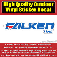Falken Tire Automotive Vinyl Car Vehicle Window Decal Sticker