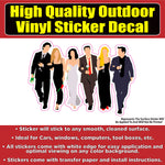 Friends Dressed Up Friends TV Show Vinyl Window Laptop Bumper Sticker Decal