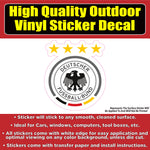 Germany Soccer Football Club Vinyl Car Window Laptop Bumper Sticker Decal