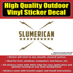 Slumerican Yelawolf Music Metallics Gold Silver Die-cut Vinyl Car Window Laptop Bumper Sticker Decal