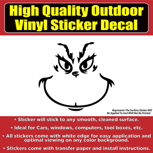 The Grinch Die Cut Vinyl Car Window Laptop Bumper Sticker Decal