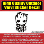 Groot Guardians of the Galaxy Movie Vinyl Car Window Multi-use Bumper Sticker Decal