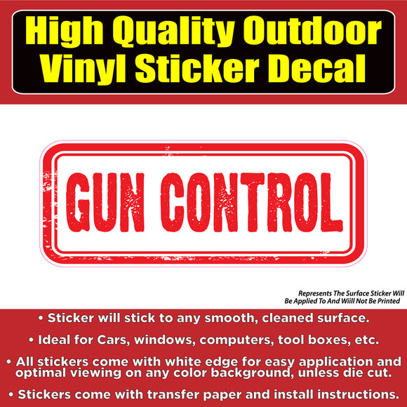 Gun Control Vinyl Car Window Laptop Bumper Sticker Decal - Colorado Sticker